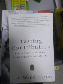 現貨~Lasting Contribution: How To Think Plan And Act To Accomplish Meaningful Work 9781932841299