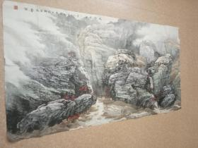中国美术家协会会员赵春雨山水精品  约十平尺  保真低售