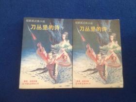 温瑞安 著 武侠小说 刀丛里的诗(上下)中国友谊出版社