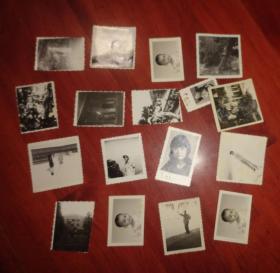 黑白相片【生活照17张合售】长6CM*宽6CM、品相以图片为准
