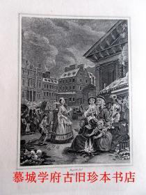 铜版(88幅)插图本《霍加斯的插图》HOGARTH