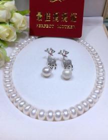 純天然珍珠項鏈套裝