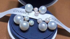 母亲节特惠 迪奥同款 顶级爱迪生大白珍珠耳钉 一对