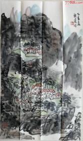青岛大学教授、中国美术家协会会员,山东美术家协会理事、山东画院高级画师,青岛书画院副院长、著名中国山水画家蓝立克精品国画
