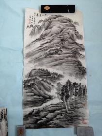 人民大学知名教授高承宗老山水画一幅