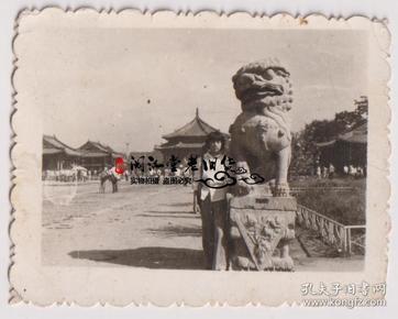 【任6件包邮挂】老照片收藏 沈阳故宫留影 4.7*6cm