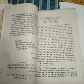 红色文献  1966年领导人讲话内容