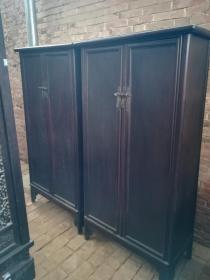 清代老家具紫檀圆角柜古董木器家具
