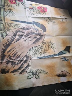 买满就送  《秋月》画家陈少梅一幅作品,是复制品哦