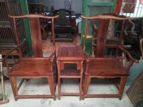 海南黄花梨官帽椅古董木器家具