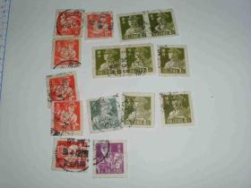 15枚50年代盖戳票