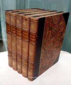 《约翰·克利斯朵夫》1925年罗曼·罗兰名著5卷本私人定制皮装本限量编号麦绥莱勒木刻插图本