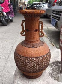 建国初篾包瓷大瓶
