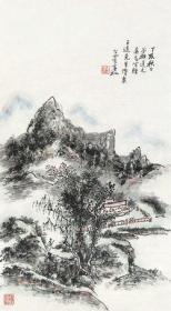 微喷书画  黄宾虹 山水 25x45厘米