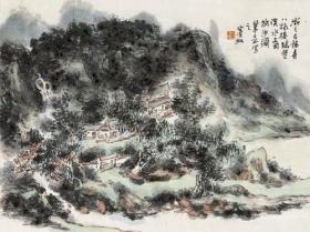 微喷书画 黄宾虹  山水 50x37厘米