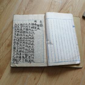 回流《毛诗》抄本。应当是某学者抄本,满纸批校