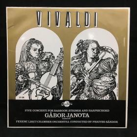古典音乐黑胶唱片:维瓦尔第(大管、弦乐和大键琴的五首协奏曲)VIVALDI:FIVE CONCERTI FOR BASSOON,STRINGS AND HARPSICHORD 七八十年出版 大33转