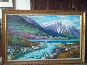 林辉,油画,净尺180*110,保真纯手绘