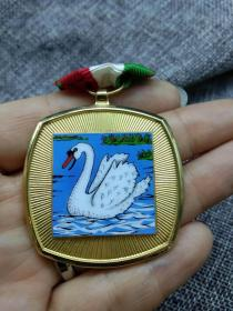 徽章 奖章 纪念章 瑞士 天鹅 1974
