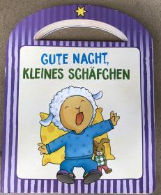 德语 纸板书 Gute Nacht, kleines Schäfchen  晚安,小羊羔