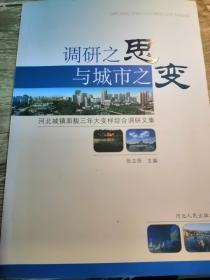 调研之思与城市之变 河北城镇面貌三年大变样综合调研文集
