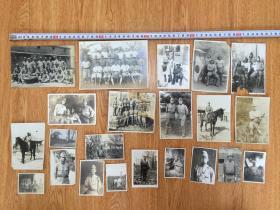 1940年前后侵華日軍照片22張合售