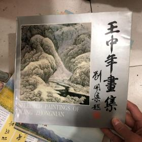 签名本:王中年画集(12开画册,软精装)(王中年毛笔签赠著名画家)