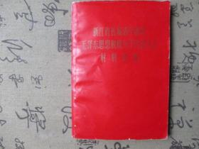 浙江省首届活学活用毛泽东思想积极分子代表大会材料选编【毛像,林彪像被撕】
