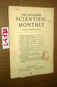 SCIENTIFIC MONTHLY 科学月刊1933年11月 多图片