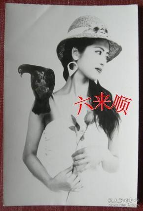 【老照片】美女,像服裝模特,背題:四川省南充市西藏路1號。趙東紅