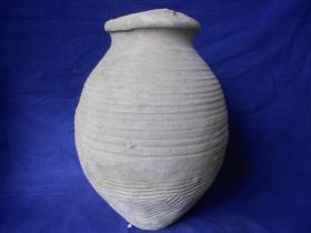 汉-绳纹尖底罐