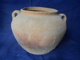民国双耳陶罐