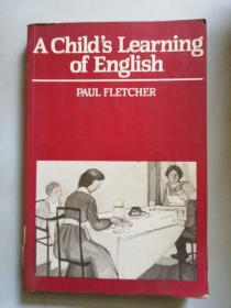 a child's learning of English