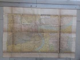 民国25年 袖珍上海地图 有租界 附市区图一幅