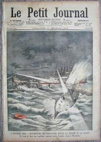 1904年2月21日法国原版老报纸《Le Petit Journal》—抚顺港之战