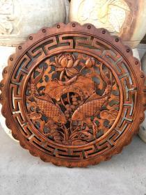 香樟木圆形挂件.雕刻精细.栩栩如生.家居装修精品.尺寸60×60cm,单个售价360元,品相如图
