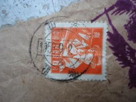 老邮戳-山东1959;9;2郓城寄徐州,带信件