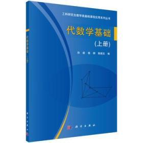 代数学基础(上册) 正版 孙毅,杨柳,陈殿友 9787030453952