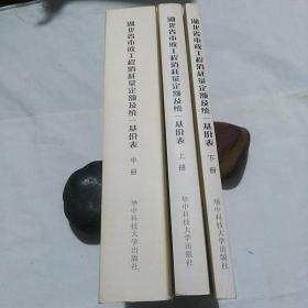 湖北省市政工程消耗量定额及统一基价表(上中下)共三册合售