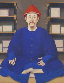 清.康熙帝读书像 .宫廷画家绘 北京故宫博物院藏