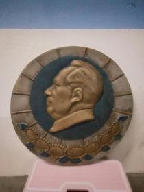云南六九年铝制毛主席像。