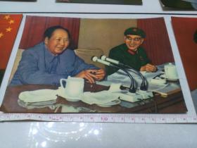 林彪照片【毛主席和林彪彩色照片6张】宽13厘米-长18厘米【包老】