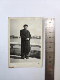 文革毛主席冲洗黑白老照片卡片宣传画