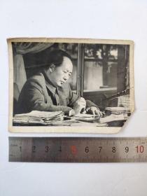 文革毛主席冲洗老照片卡片宣传画有手写赠言人名印章
