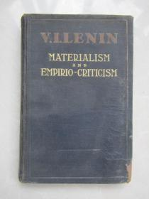 民国英文原版:V.I.LENIN MATERIALISM AND EMPIRIO-CRITICISM   【唯物论与经验批判论】