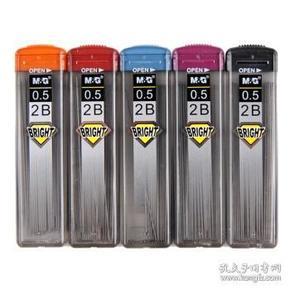 晨光(M&G) ASL60001 SL-301树脂铅芯 活动铅笔芯 自动铅笔芯 0.5mm 2B 小盒装(60mm*20根)