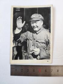 文革毛主席冲洗黑白老照片卡片