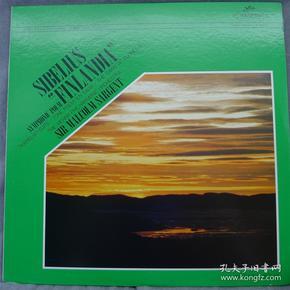 西贝柳斯 交响幻想曲 马尔科姆 萨金特爵士指挥 日版 黑胶LP唱片798