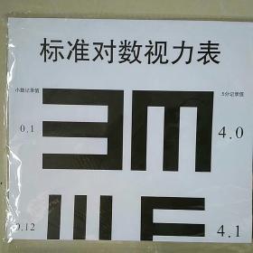 5米标准对数视力表(四张一套)