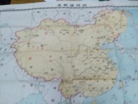 清朝疆域图(中学历史教学参考挂图)